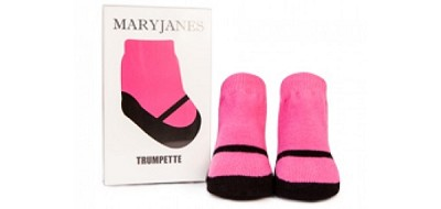 Trumpette Socks Maryjane Single Pair Gift Box - Fuchsia (0-12 M)