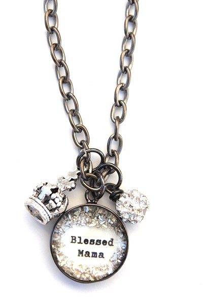 Beth Quinn Blessed Mama necklace