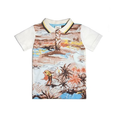 S/S Sublimation Hawaiian Print Polo