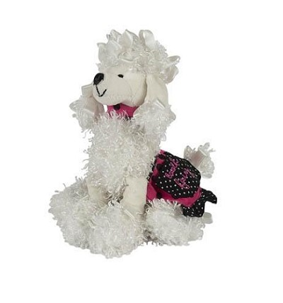 Parisian White Poodle Tooth Holder