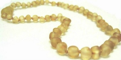 Inspired by Finn Raw Amber Teething Necklace: Lemonade Cinnamon Sprinkle Small 10.5-11.5""