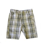Chambray and Dobby Plaid Reversible Short