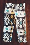 Sweet Kiddo Co  -  Aztec Turquoise Tribe Leggings