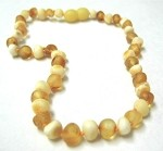 Inspired by Finn Raw Amber Teething Necklace: Light Amber Small